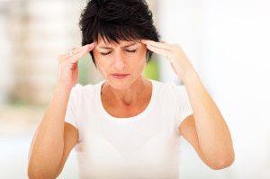 mid age woman headache