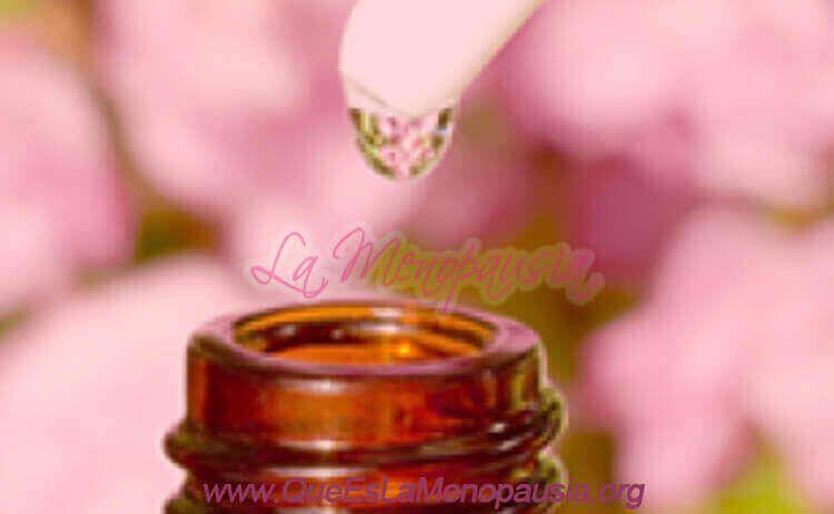 Combinaciones de esencias florales para la menopausia
