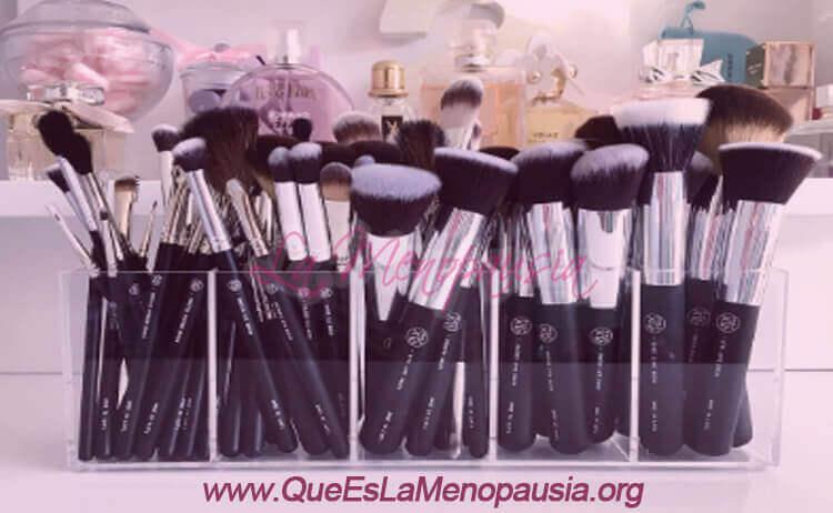 Organizador de brochas de maquillaje